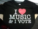 I love music and I vote T shirt